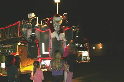 Santa Claus on fire truck