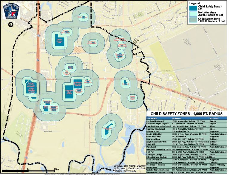 Child Safety Zones Map
