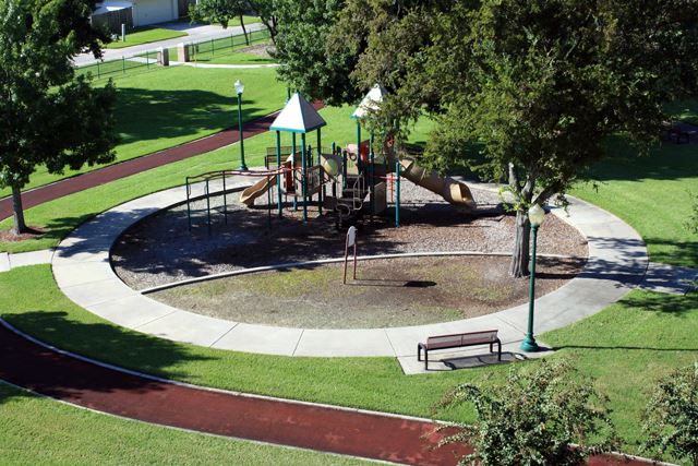 Walnut Park Aerial Playground View