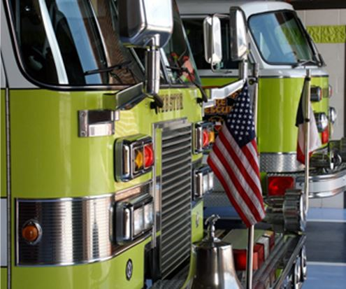 Webster Fire Engines Parked Next to Each Other