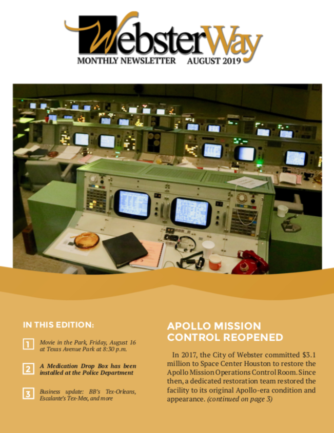 August Newsletter Cover