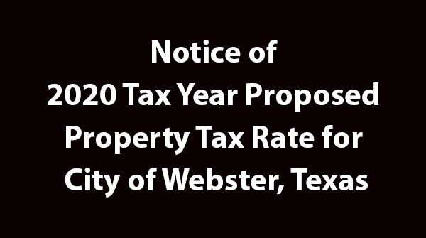 2020 Tax Rate Notice