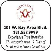 Avenida Brazil Churascaia, 209 West Bay Area Blvd., 281-557-9999