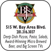 BJ' Restaurant and Brewhouse, 515 West Bay Area Blvd., 281-316-3037