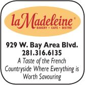 La Madeline Country Frend Cafe, 929 West Bay Area Blvd., 281-316-6135