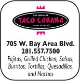 Taco Cabana, 705  West Bay Area Blvd, 281-557-7500