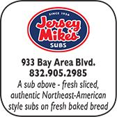 Jersey Mike's Subs, 933 W Bay Area Blvd., 832-905-2985