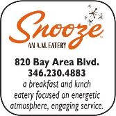 Snooze, A. M. Eatery, 820 W. Bay Area Blvd.,