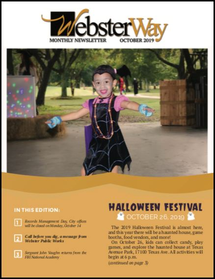 October Newsletter- Cover Story- Halloween Festival 2019 Opens in new window