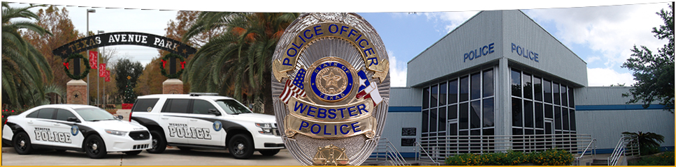Webster Police Dept banner