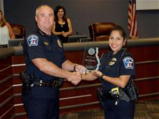 Chief Presley with Officer Muniz