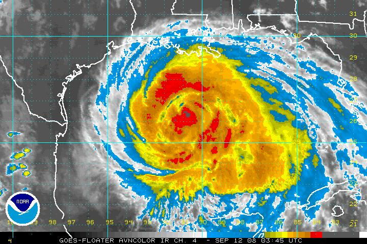 Hurricane Ike. Photo by NOAA